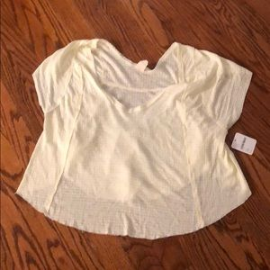 BNWT FREE PEOPLE WAFFLE KNIT TOP